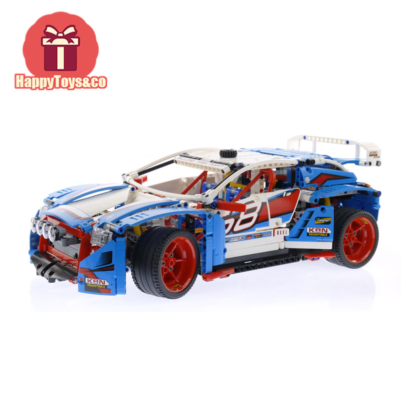 Lepin New Technology Series 42077 1085Pcs Rally Car toys For Children Gift 20077 Building Blocks Set Compatible Education new lepin 16009 1151pcs queen anne s revenge pirates of the caribbean building blocks set compatible legoed with 4195 children