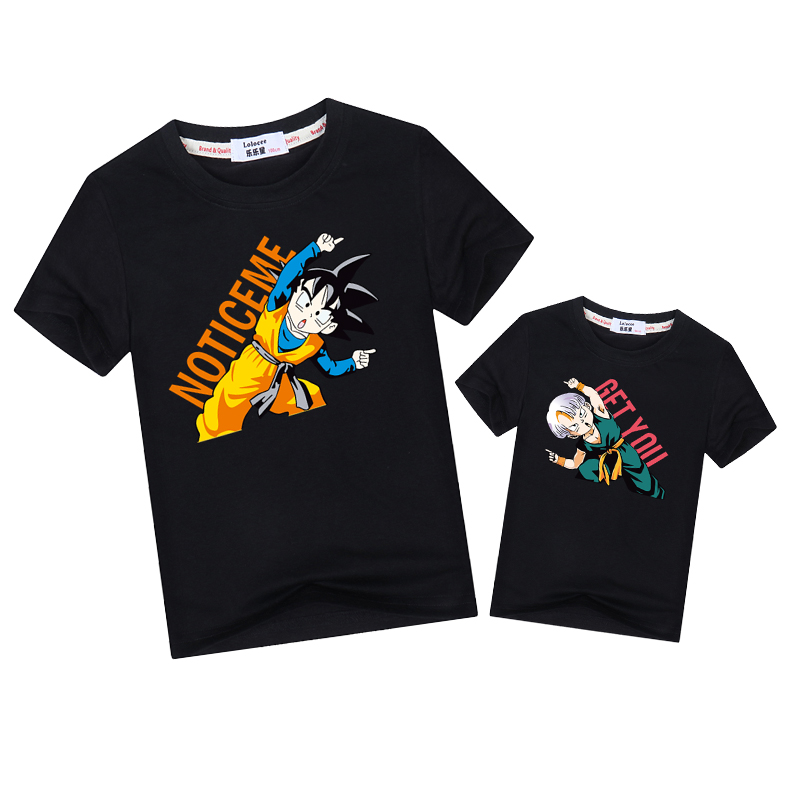 Dragon ball father son family matching t-shirt funny pose summer clothes Dad mother matching outfits kid boy tee fashion topsDragon ball father son family matching t-shirt funny pose summer clothes Dad mother matching outfits kid boy tee fashion tops