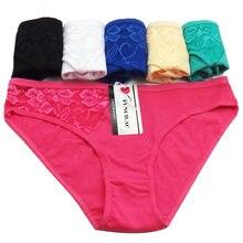 fa3acefa703 FUNCILAC 5 pcs set Cotton Panties for Women Sexy Lace Transparent Briefs  Female Underwear Lady Lingerie Wholesale Free shipping