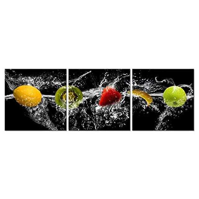 Dancing Fruit Modern Landscape Artwork 3 Panels Giclee Canvas Prints ...