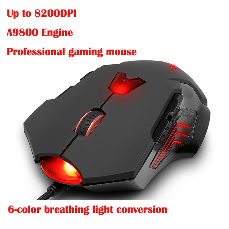 Delux M811 LED computer mouse USB wired laser gaming mouse for desktop laptop PC gamer Dota2 lol  professional usb wired gaming keyboard laser carving backlight rgb game for teclado dota cs go lol computer gamer high quality