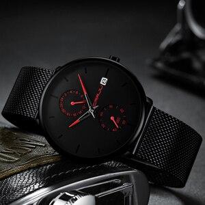 Image 3 - CRRJU 2019 Mode Kleid Männer Uhr Business Einfache Quarz Uhren Herren Schwarz Mesh Wasserdicht Casual Armbanduhr für Mann Uhr