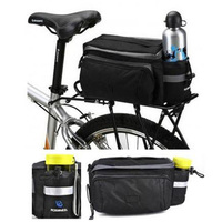 Large Bike Bag Bike Rear Seat Bag Outdoor Cycling Multi-function Handbag Waterproof Bicycle Pannier with Water Bottle Bag Holder