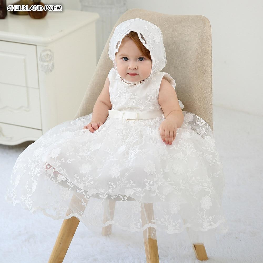 Baby Christening Ball Gown Baptism Dress Lace Princess Newborn 1 Year 1st Birthday Party Wedding Baby Girl Dress Shower Dress