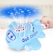 Small Airplane Innovative Projection Rattles Educational Toys Baby Toys 0-12 Months Baby Mobile Rattles Toys For Newborns