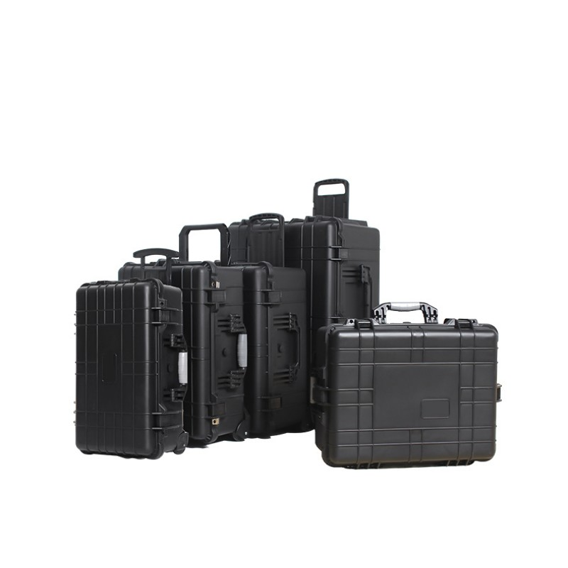 Trolley Case Protection Impact Resistance Waterproof Suitcase Toolbox Safe Instrument Case With Precut Sponge With Wheels