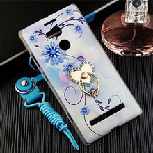 Pattern PC Ring Cover + Rope Lanyard for Blu Pure XL P0010U Draw Printing Case Free Shipping Smart Mobile Phone Shell bags