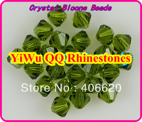 Free shipping! AAA 5301 Olivne color 3mm 4mm 5mm 6mm 8mm  Crystal Glass Bicone Beads. free shipping aaa 5301 white opal color 3mm 4mm 5mm 6mm 8mm crystal glass bicone beads