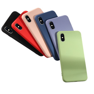 Image 5 - Soft Liquid Silicone Phone Case for iphone X XS MAX XR 7 8 6 6S Plus Soft Gel Rubber Shockproof Cover Full Protective back case
