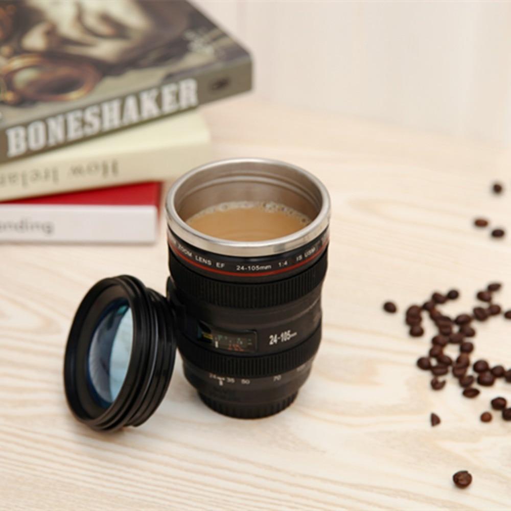 Livraison gratuite cpam nouveau caniam tasse de caméra objectif 24-105mm 1:1 echelle plastique café thé tasse 400 ml creative tasses et tasses