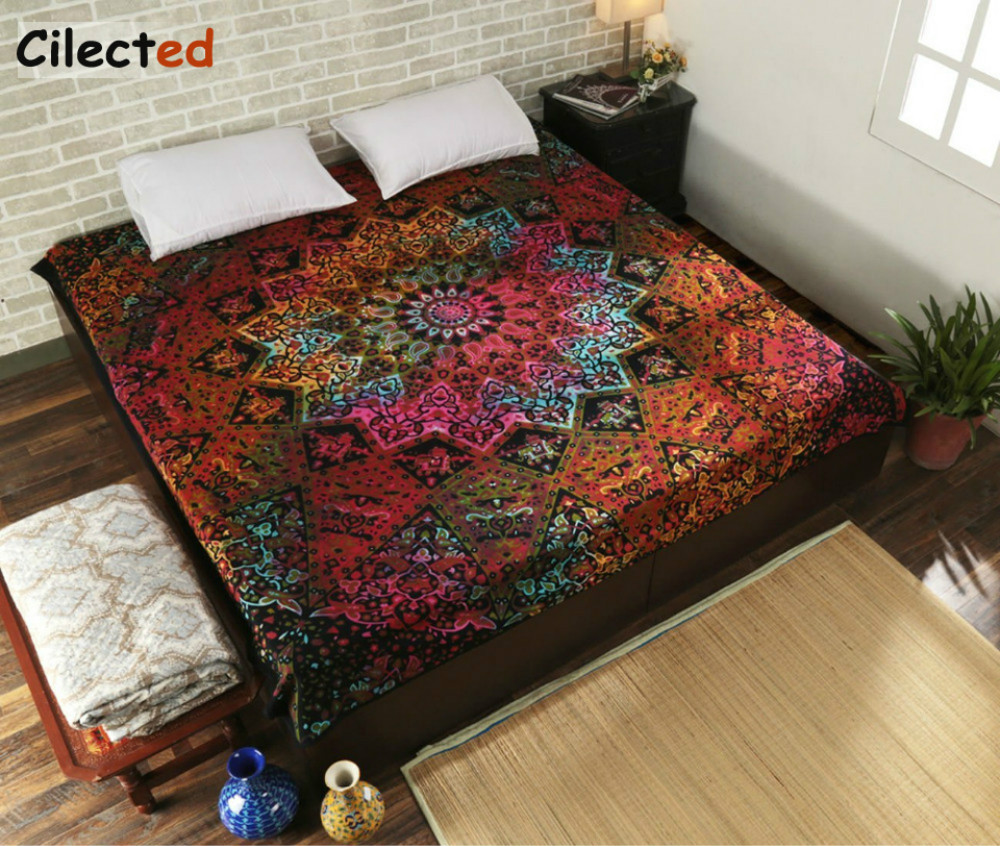Tapestry Wall Hanging Indian Mandala Hippie Towel Home Decor Bedspread Beach New