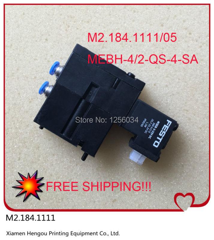 20 pieces m2.184.1111 heidelberg valve original M2.184.1111/05, MEBH-4/2-QS-4-SA