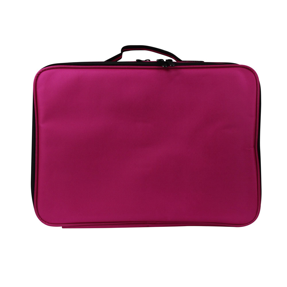 ФОТО Unisex Professional Makeup Bag Solid Nylon Zip High Quality Cosmetic Case Handle Organizer Storage Bag Neceser Para Mujer #7123