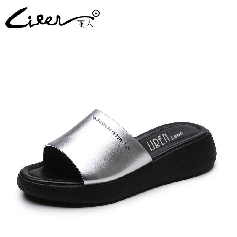 Лижэнь размер 40 женская обувь летние удобные дышащие мягкая подошва тапочки ручной работы повседневная женская обувь из натуральной кожи Т...