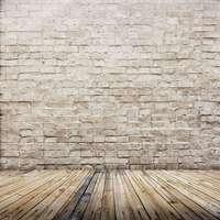 5x7ft Light Color Bricks Wall Vintage Wooden Floor Wedding Custom Photography Studio Backgrounds Vinyl Free Shipping
