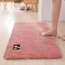 Cotton Fiber Bath Mat Super Absorbent Bathroom Carpets Rugs Bathtub Floor Doormat For Shower Room Toilet 4 Size