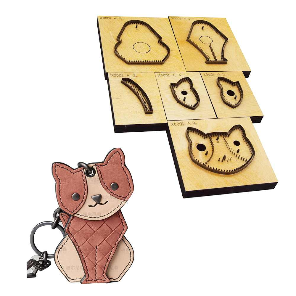 Leather Die Cutter Japan Steel Blade Cat Animal Keychain Pendant Knife Mold Pendant Leather Mold Punch Tools For Leather Craft Aliexpress