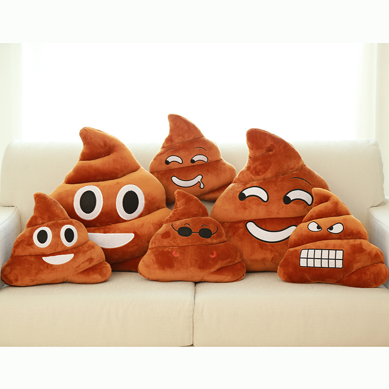 Funny Cushion Poop Shape Emoji Pillow Shits Bolster Emotion Stuffed Toy Plush Doll Interesting Gift Small 20x20 30x35 Big 50x55
