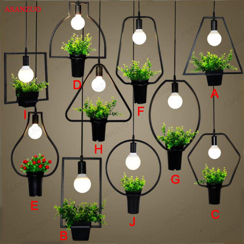 Modern Plant  Deco Pendant Lamp Fashion Nordic Dining Table Hanging Light Fixture DIY Luminaire Cafe LightingModern Plant  Deco Pendant Lamp Fashion Nordic Dining Table Hanging Light Fixture DIY Luminaire Cafe Lighting