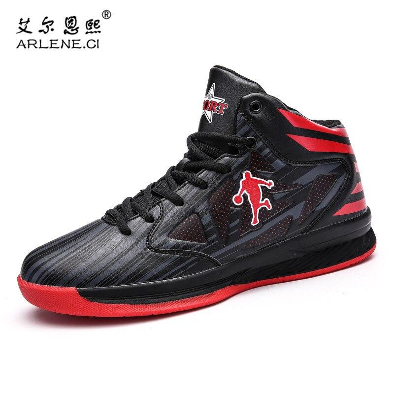 bas prix f6916 decb8 US $22.59 35% OFF|Hot Sale Men Women Basketball Shoes Jordan Shoes Anti  slip Basketball Sneakers Femme Sport Shoes Basket Homme Plus Size 39 45-in  ...