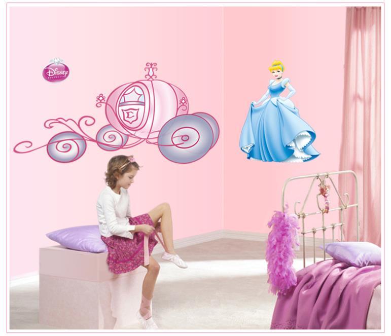 Sticker chambre enfant Disney Princess Princesse Mural ...