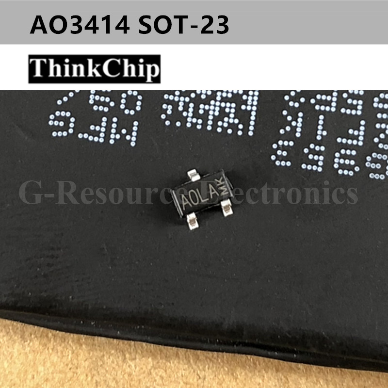 Free Shipping 50 Pcs / Lot AO3414 A0LA SOT-23 N-Channel 20V 3A (Ta) 1.4W (Ta) SMD Mosfet Transistor New Original