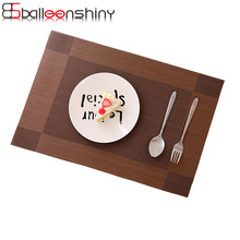 BalleenShiny Placemat PVC Dining Table Mat Slip-resistant Pad Napkin Coasters Bar Mat Plate Insulation Placemat Set 45X30CM