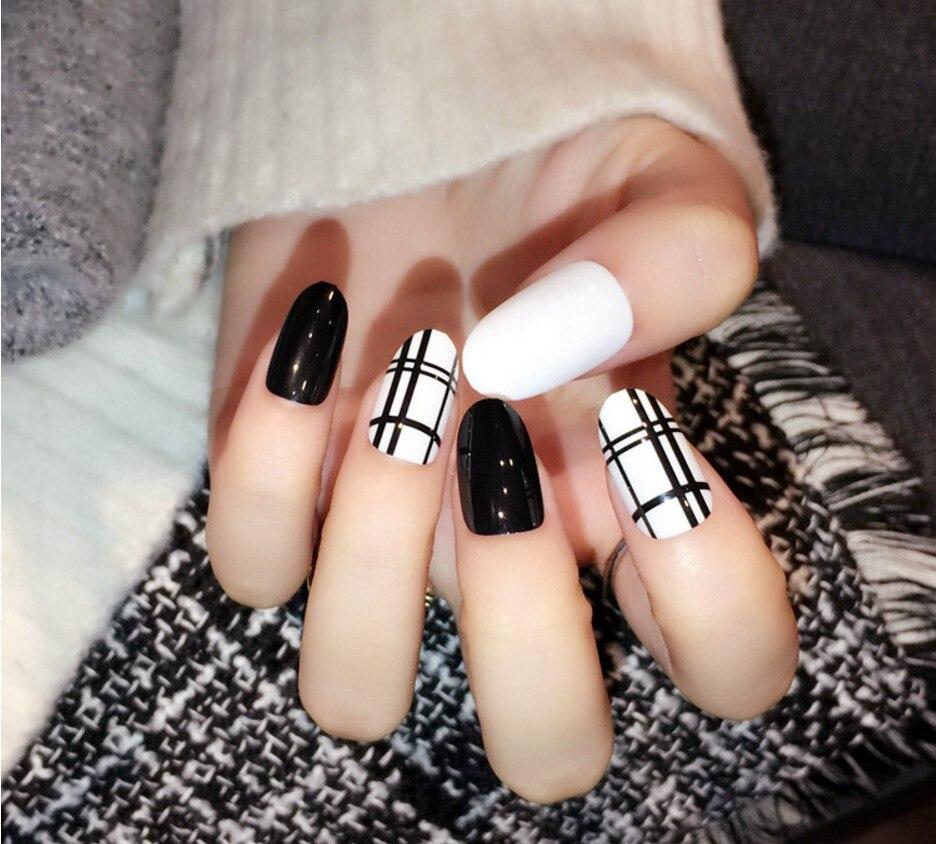 24 PCS Fashion Cute Designer Acrylic Art Fake Nails 3D Multi Candy ...