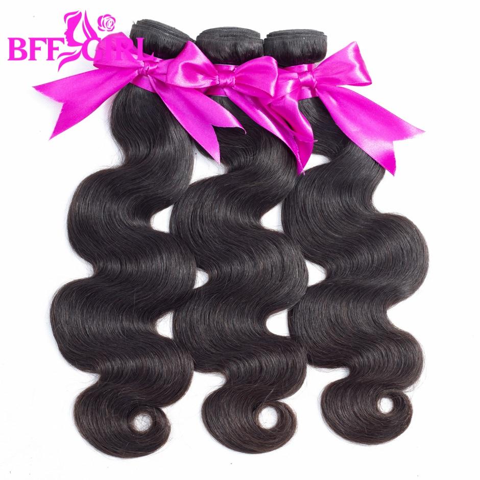BFF GIRL Peruvian Body Wave Hair Bundles Human Hair Weave 3 Bundles Natural Black Color Non Remy Hair Extension Free Shipping