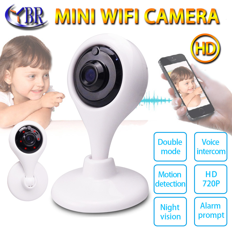 ФОТО  Mini Camera Wifi IP Cctv Security  Home Camera Wireless Telecamera P2P 720P Pan Tilt Zoom 2 Way Audio Smartphone Remote Camera