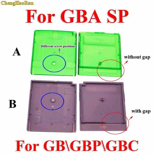ChengHaoRan carcasa para Cartucho de juego GBA SP, carcasa para GB GBC, gris, verde, 1 unidad