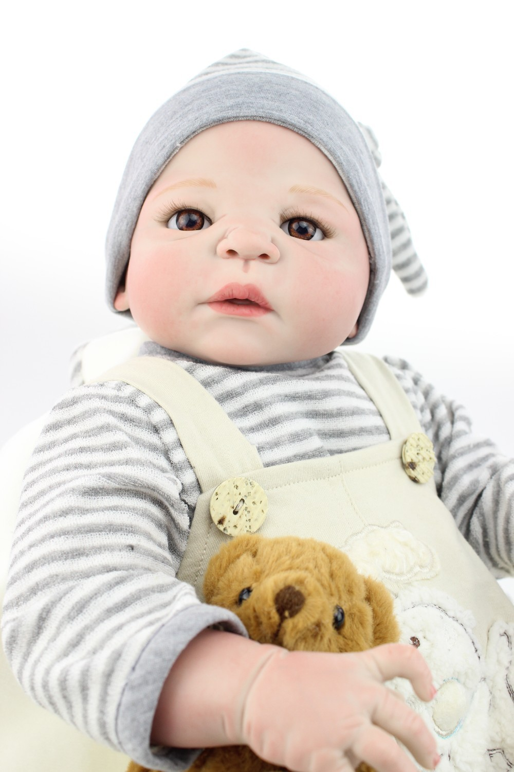 55cm Full Silicone Reborn Baby Boy Doll Toy Vinyl Newborn Babies Bebe Reborn Doll Girls Bonecas Birthday Gift Present Bathe Toy full silicone body reborn baby doll toys lifelike 55cm newborn boy babies dolls for kids fashion birthday present bathe toy