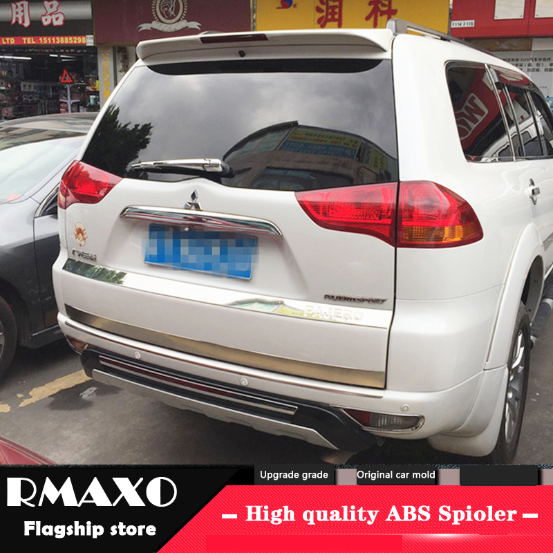 For Mitsubishi Pajero Sport Spoiler 2008-2014 High Quality  ABS Material Car Rear Wing Primer Color Rear Spoiler