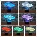 Criativo 3d animação carros noite luz e lâmpada 7 cores chaning lâmpada atmosfera levou novelty iluminação crianças presente de natal aniversário