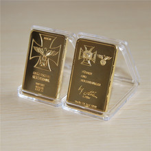 Hot-sale, 1 OZ German Eagle gold bullion bar Deutsche Reichsbank 999/1000 Reichs Gold free shipping, 1/3/5/10pcs/lot