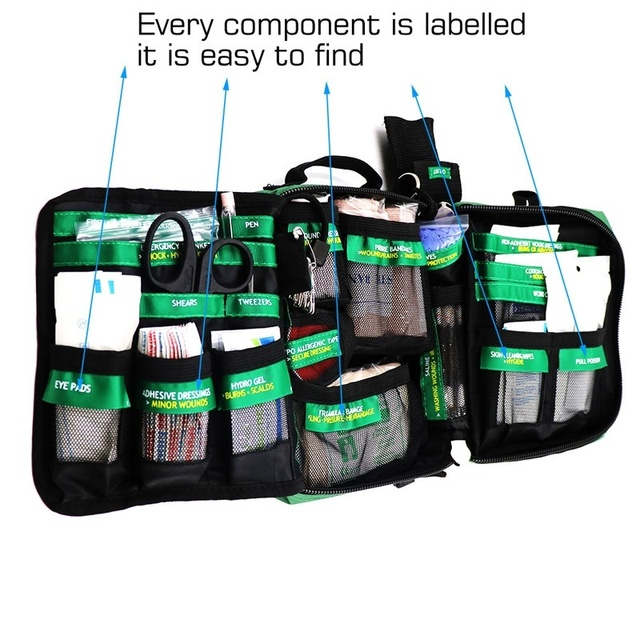 165-Piece Emergency Medical Rescue Bag Outdoors Car Hiking Survival Kits