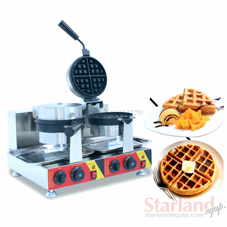 Waffle Making Snack Machine Stainless Steel Double Head Snash food Machine 3 head 304 stainless steel french fry holder creative restaurant and bar snack snack ktv for food display stand