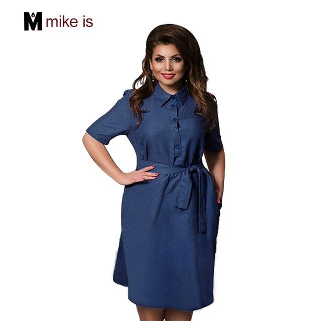 Новинка 2017 года дизайнер для женщин; большие размеры платье Straigth Повседневное Vestidos Пояса повседневная женская обувь платье из джинсовой ткани 6xl более Размеры D по колено