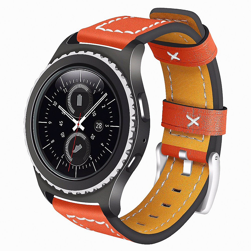 цена на Genuine Leather Replacement For Samsung Gear S2 Watch band Gear Sport SM-R600/ Gear S2 Classic SM-R732 & SM-R735 Smart strap