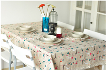 Christmas Flax Eiffel Tower Cotton Lace Tablecloths Table Cloth Tea Table  Cloth Upholstery Fabric Quilted Cover Cloth Universal