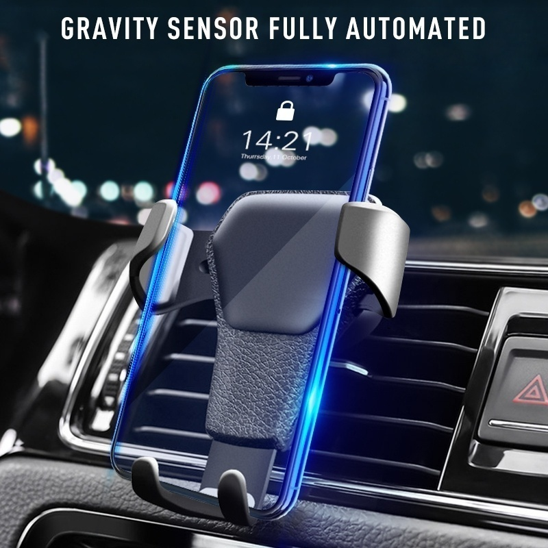 Gravity Car Phone Holder Air Vent Mount Cell Smartphone Holder For Phone In Car Smile Face Bear Mobile Phone Holder Stand GPS