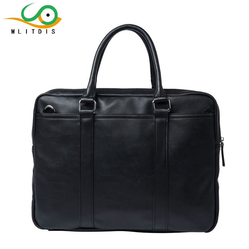 ФОТО MLITDIS Business Briefcase Men's Commercial Leather Handbag Sacoche Homme Marque Male Large Laptop Bags Bolsa Masculina Hombre