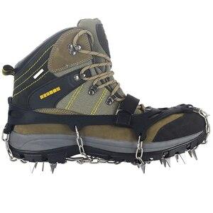 Image 5 - YUEDGE Tacos de crampón de tracción para botas, acero inoxidable, 18 dientes, antideslizantes, para nieve, ramponi