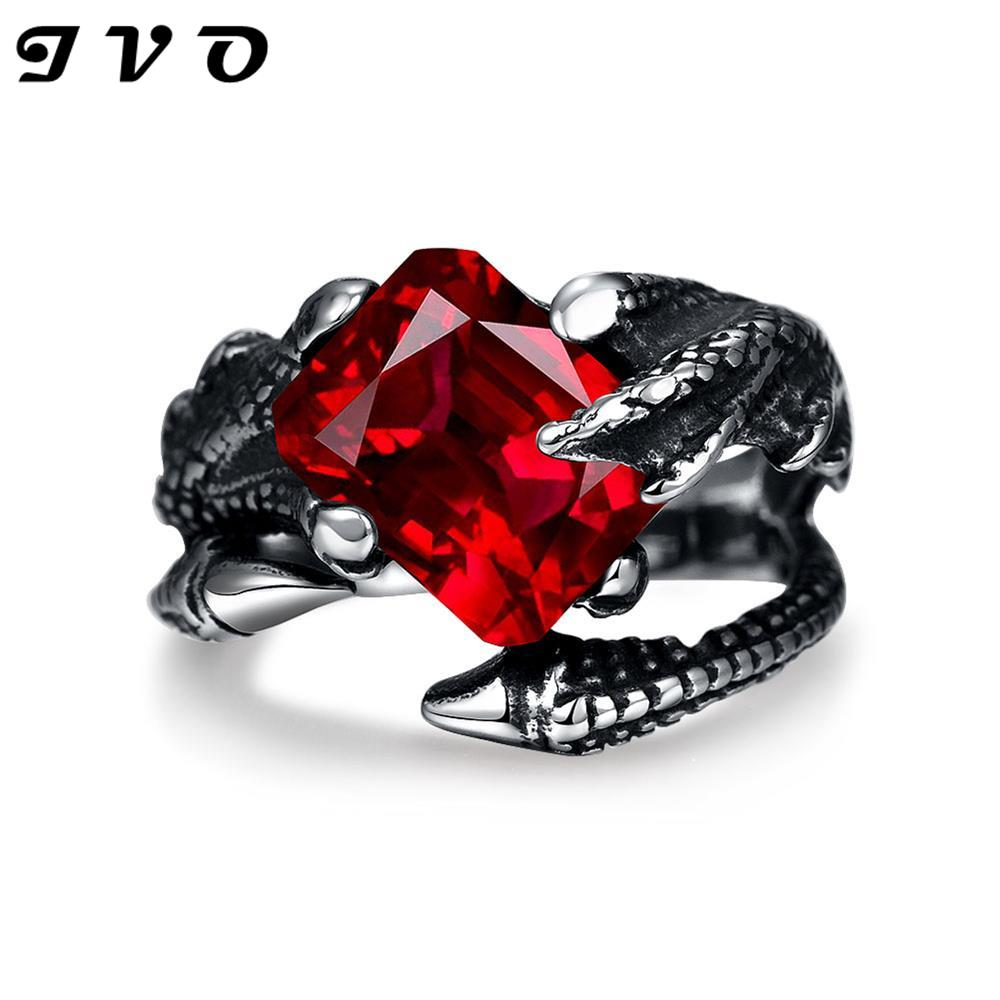 Stainless Steel Mens Ring skeleton punk rings The Lord of The Rings Unique Star celebrity men styles ring