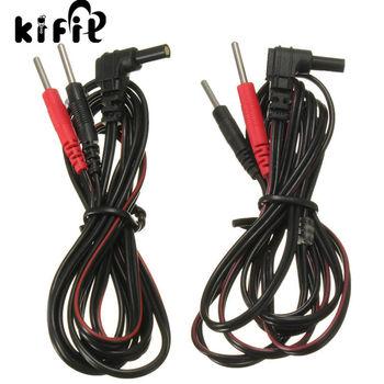 2 sztuk partia wymiana elektrody przewody standardowe Pin połączenia kable 2mm dla Tens Ems masaż cyfrowe maszyny do terapii tanie i dobre opinie CN (pochodzenie) NONE