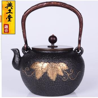2018 new 1.2L Iron pot Fu Lu Ye cast iron pot Japanese old iron pot South pig iron kettle teapot kettle