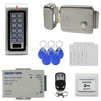 Diysecur Водонепроницаемый 125 кГц rfid металла клавиатура Система контроля доступа комплект + Электрический дверной замок + RFID карты + Питание W1