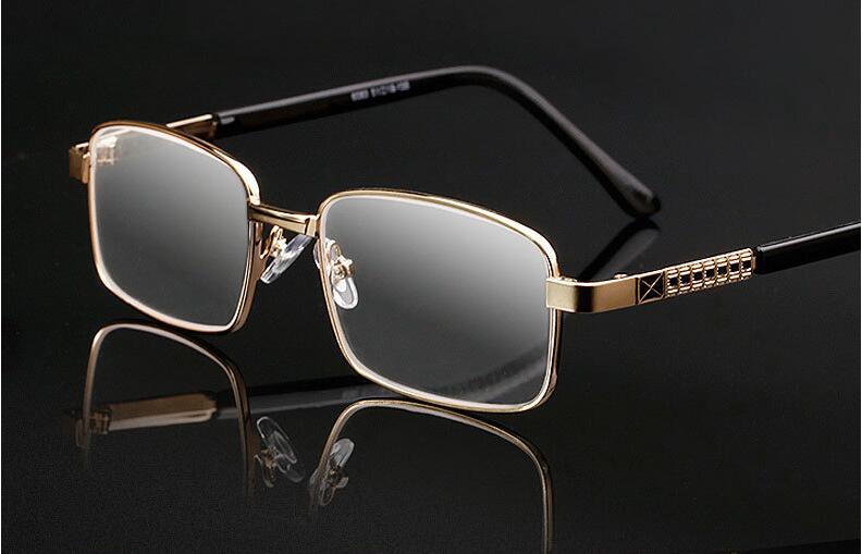 d5df824a8c0 Fashion Reading Glasses Men Eyeglasses Metal Frame Old People Reader  Glasses Gold. Gray Gafas De Lectura Mens Reading Glass YJ760
