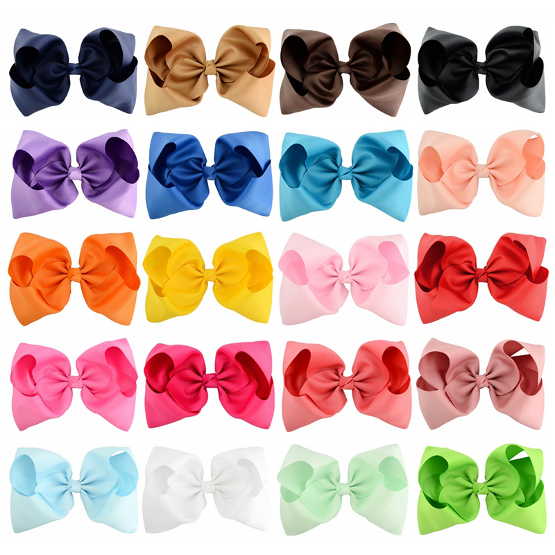 20pcs/lot  8 Extra Large Bows With Alligator Clips For Girls Children Headwear Hair Accessories Boutique Ribbon Bow Clip 8 large solid grosgrain ribbon hair bow with clip for girls jumbo hair bows girls hair accessories 15pcs lot