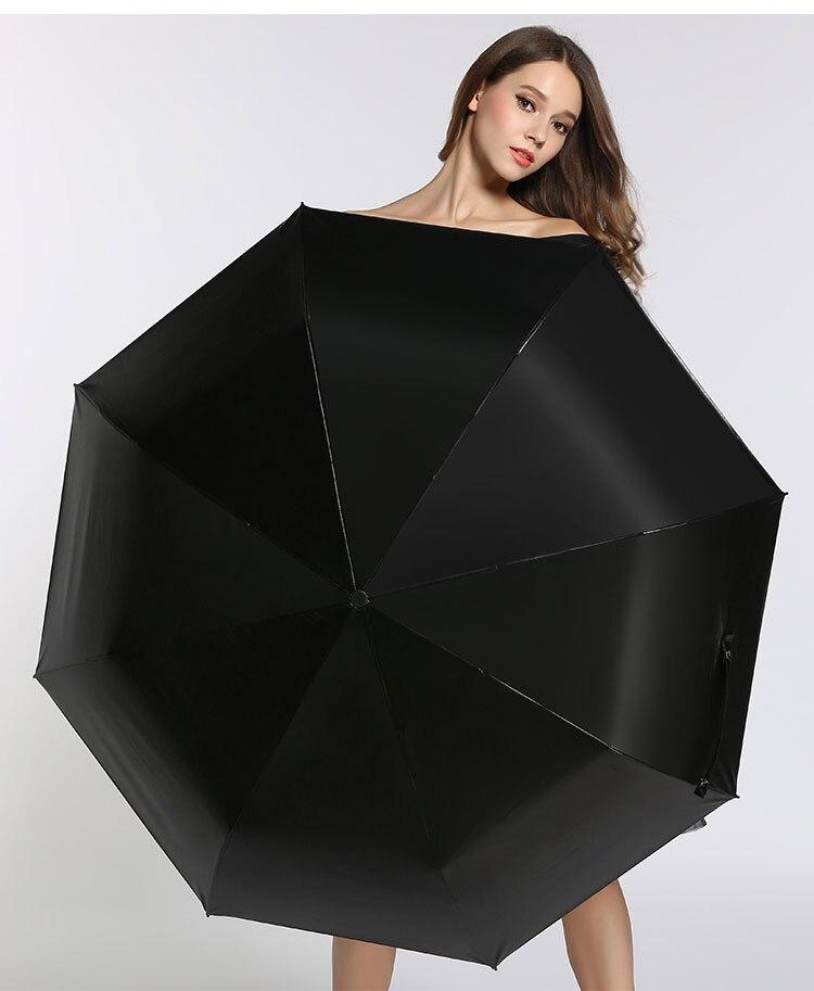 2pcs/lot colour option Fiberglass windproof 5times black coating anti-UV parasol pocket mini folding full stars printed umbrella